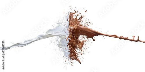 Obraz na płótnie chocolate and milk splash