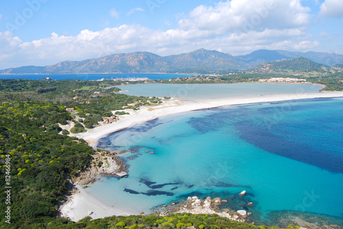 Photo  view of a piece of colorful nature in Villasimius (Sardinia) wit
