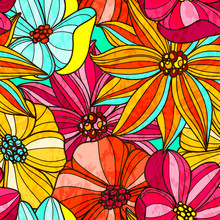 Seamless Floral Bright Pattern...