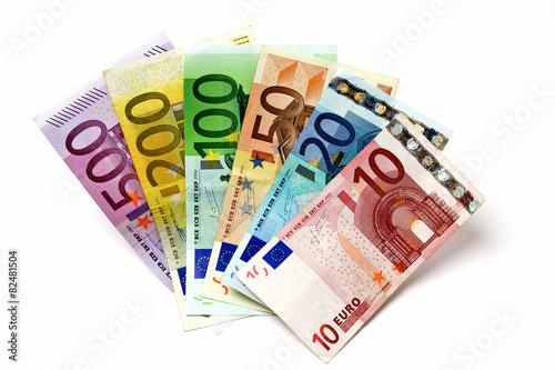 Fotografía  Mit 500, 200, 100, 50, 20, 10 Geldfächer Euro
