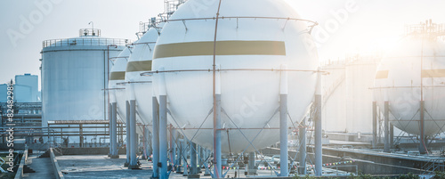 gas tanks for petrochemical plant Wallpaper Mural