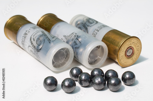 Fotografering munitions de chasse calibre 12 chevrotines