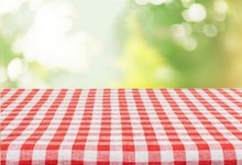 Picnic. Empty Table For Your P...