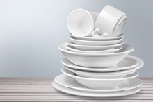 Dishware. Stack Of Plates
