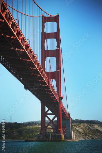 Keuken foto achterwand Art Studio San Francisco's Iconic Golden Gate Bridge