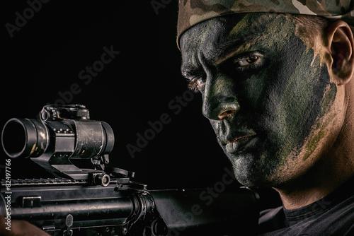 Fotografía  masculine soldier