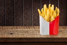 French. French Fries In A Red ...