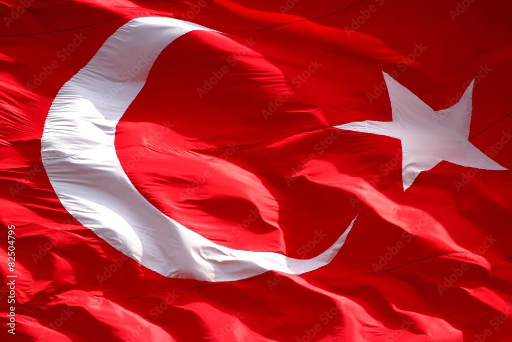 Photo  Waving Turkish flag