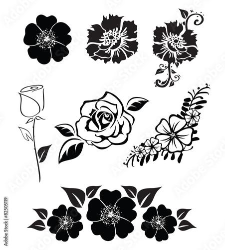 ilustracja-sylwetki-kwiatow