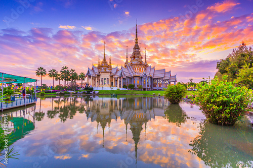 Wall Murals Place of worship Non Khum temple; The temple of Sondej Toh in Thailand