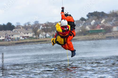 Fototapeta Coast Guard crew water rescue training
