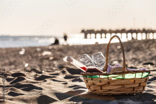 Foto op Plexiglas Picknick picnic on the beach