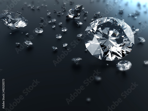 diamond on black background with clipping path #82528375