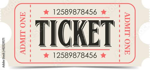 Retro ticket Canvas Print