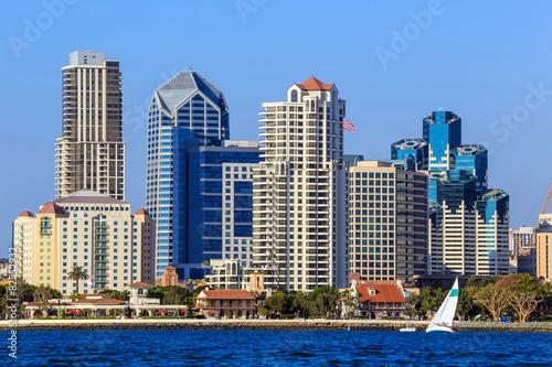 In de dag Chicago Skyline of San Diego, California from Coronado Bay