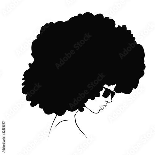 profile silhouette of girl Wallpaper Mural