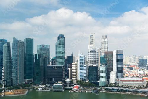 Tuinposter Singapore beautiful view to bangkok city seafront