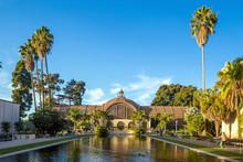 Balboa Park Botanical Building And Pond San Diego, California