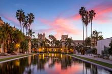 Casa De Balboa At Sunset, Balboa Park, San Diego USA