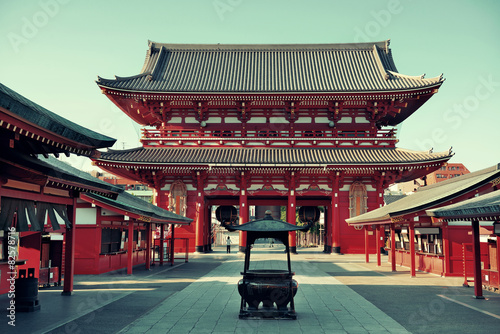 Printed kitchen splashbacks Place of worship Tokyo temple