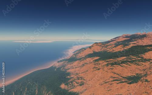 Alien landscape, fantastic planet #82586109