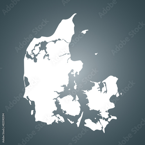 Denmark map Wallpaper Mural