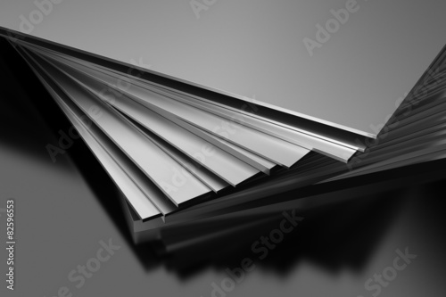 Fotografie, Obraz  Metal Plates