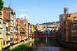 river and picturesque houses in Girona