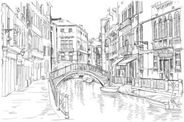 Panel Szklany Podświetlane Wenecja Venice - Fondamenta Rio Marin