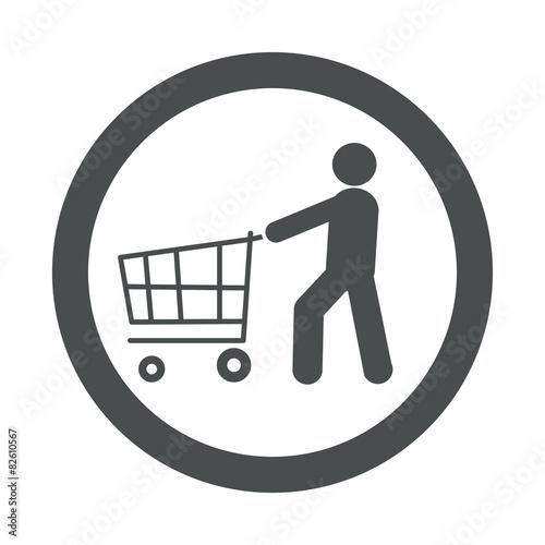 Fotografía  Icono redondo consumidor gris