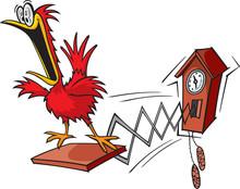 A Cartoon Cuckoo Clock. Layered Vector And High Resolution Jpeg.