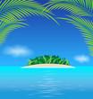 Paradise tropical ocean island