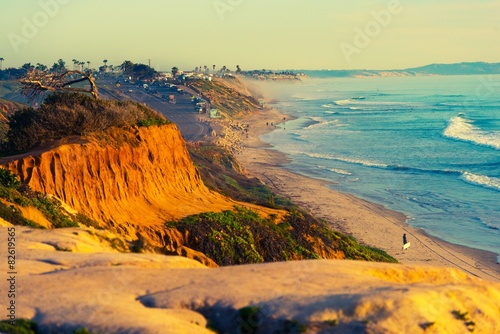 Photo  Encinitas Beach in California
