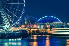Seattle Waterfront At Night