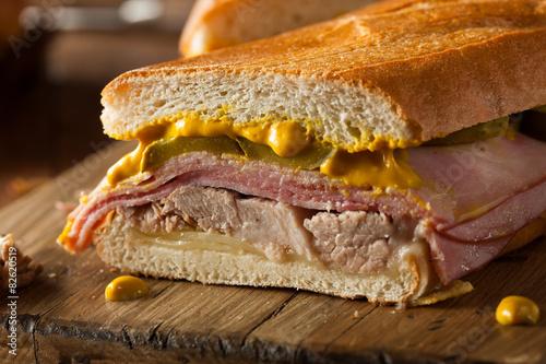Homemade Traditional Cuban Sandwiches Slika na platnu