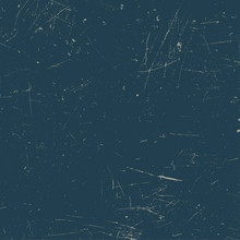 Scratched Texture. Blue Grunge Background.