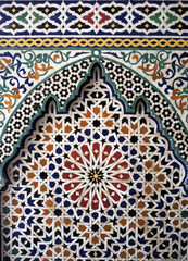 Panel Szklany Ornamenty Ornaments from Morocco, Islamic art