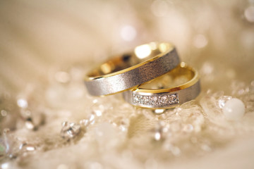 Fototapeta wedding rings. Shallow dof