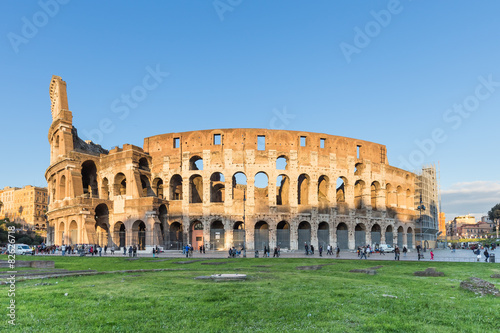 Foto op Aluminium Rome Sunset at the Colosseum in Rome, Italy