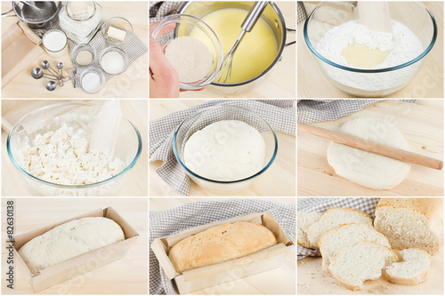 Fotografie, Obraz  Photo set baking homemade bread