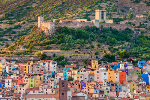 Photo  Colourful houses, Bosa, Sardinia, Italy, Europe