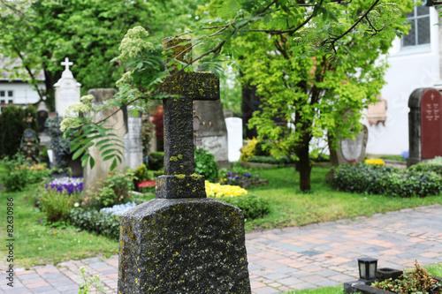 Photo Grabstein auf dem Friedhof