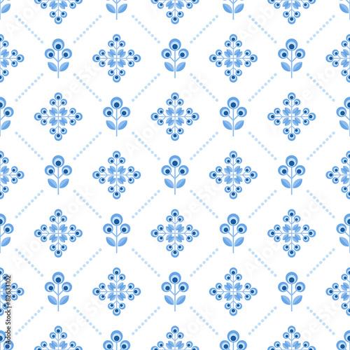 ludowy-niebieski-wzor