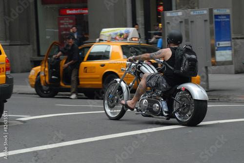 New York; motard; moto