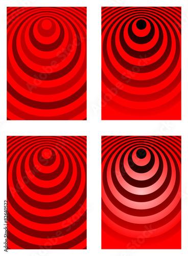 Fotografia  Fondo ondas rojo