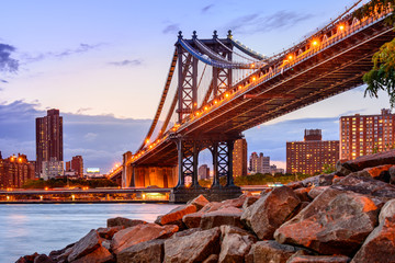 Fototapeta Mosty Manhattan Bridge Cityscape