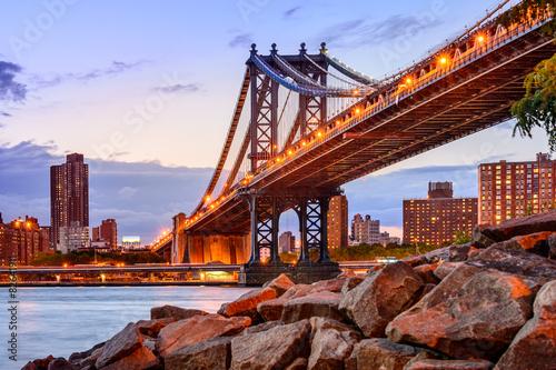 Fototapeta premium Manhattan Bridge Cityscape