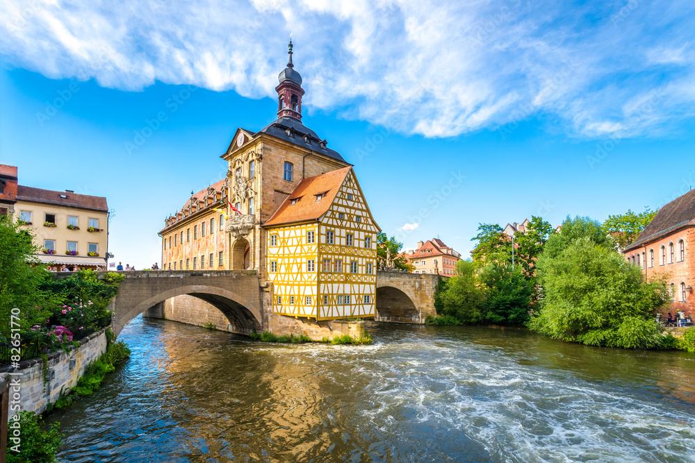 Fototapety, obrazy: Bamberg, Brückenrathaus