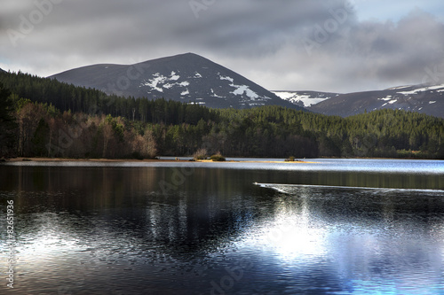 Loch Morlich dramatic reflection Canvas Print