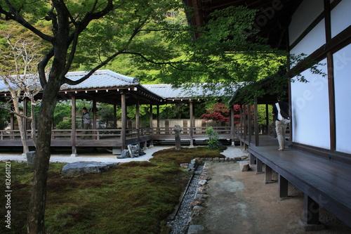 Tuinposter Weg in bos 京都